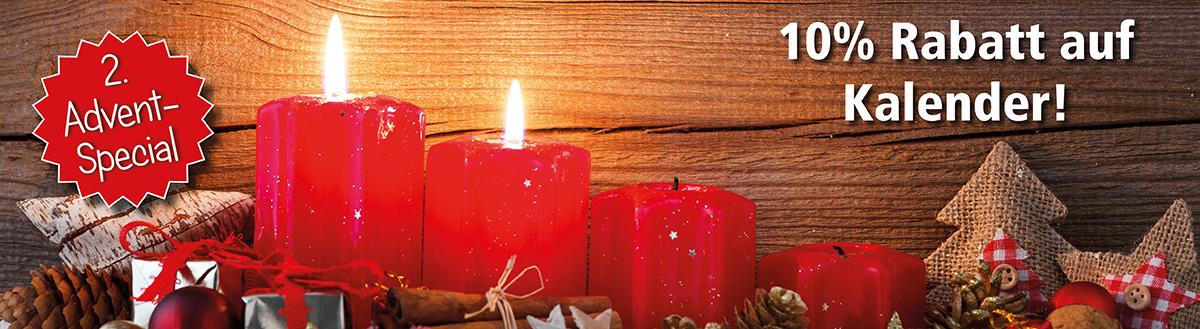 2. Advent-Special: 10% Rabatt auf Kalender (abgelaufen)