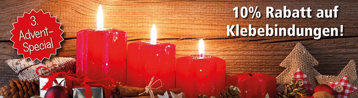 3. Advent-Special: 10% Rabatt auf Klebebindungen (abgelaufen)