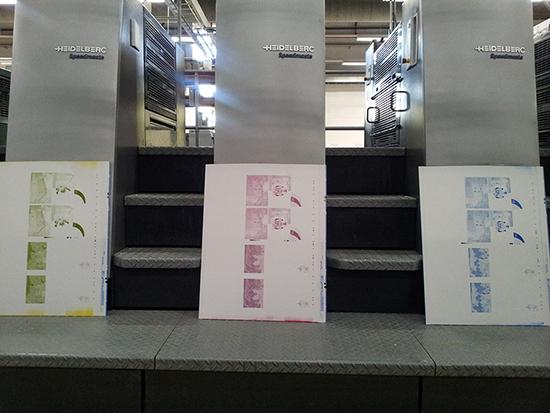Bedruckte Druckplatten