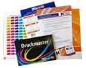 Kostenlose Druckmuster, Papiermuster und Veredelungsmuster