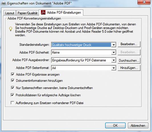 Drucken und speichern Sie Ihr Dokument als PDF-Datei