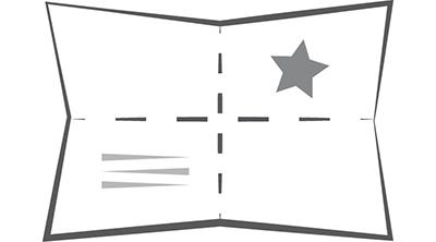Kreuzfalz beim 8-seitigen Folder