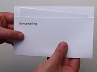Bonusmailing als Selfmailer