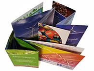 Folder in verschiedenen Falzarten