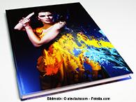 Hardcover in DIN A4 eignen sich gut für hochwertige Abibücher