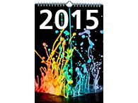 Wire-O-Bindung als Kalender 2015 mit Aufhänger