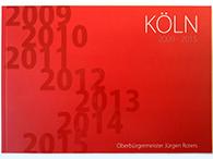 Das klebegebundene Buch des Kölner Oberbürgermeisters