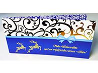 4-seitige Postkarte für Weihnachten, mit goldener Heißfolie, UV- und Relief-Lackierung