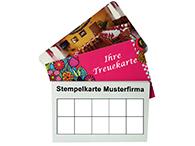 Geschäftskarten als Stempelkarten oder Treuekarten