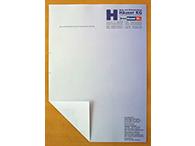 Geschäftsbögen auf 80g Laser-Offset-Papier mit bedruckter Rückseite