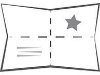 Folder mit Kreuzfalz