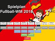Plakat mit Spielplan zur Fußball-WM 2018
