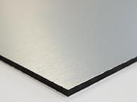 Alu-Verbundplatte in gebürstetem Silber