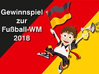 Postkarte für ein Gewinnspiel zur Fußball-WM 2018