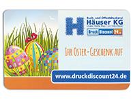 Visitenkarten als als Geschenkkarte zu Ostern