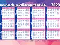 Visitenkarten als Minikalender für 2020