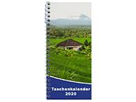 Spiralbindung als Taschenkalender 2020