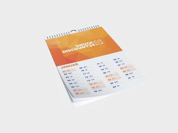 Drucken Sie Ihre Kalender DIN A5 günstig online