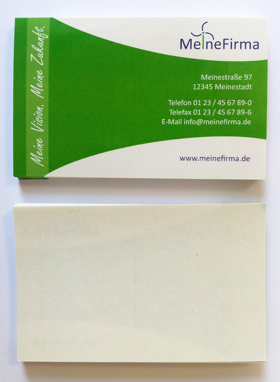 Sticker aus Haftpapier mit high-gloss Oberfläche