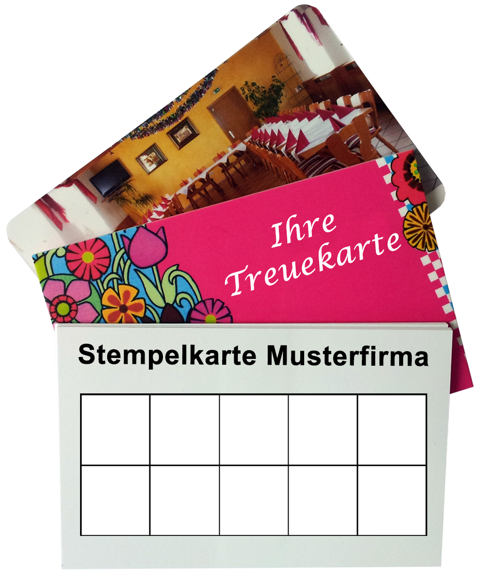 Visitenkarten als stempelkarten oder treuekarten - Visitenkarten gratis vorlagen ...