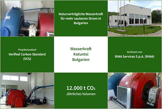 Unser aktuelles Klimaschutzprojekt: Ein Wasserkraftwerk in Katuntsi, Bulgarien (Fotos: ClimatePartner)